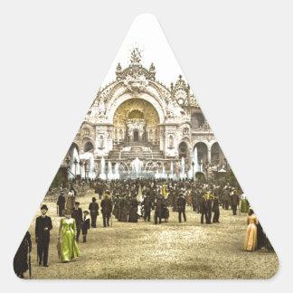 Vintage Paris Exposition of 1900 Triangle Sticker