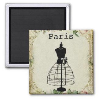 Vintage Paris Fashion Dress Form Magnet