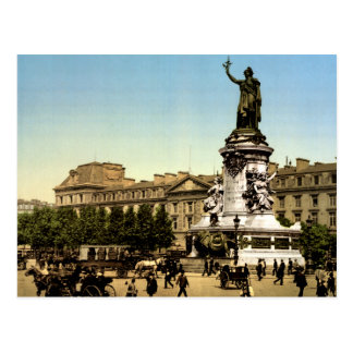 Vintage Paris France, Place de la Republique Postcard