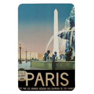 Vintage Paris, France - Rectangular Photo Magnet
