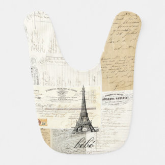 Vintage Paris French Ephemera Bib