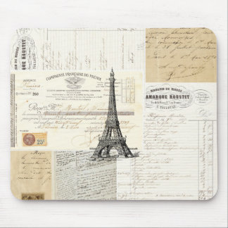 Vintage Paris French Ephemera Mousepad