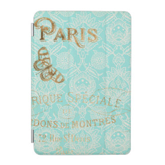 Vintage Paris Gold Design iPad Mini Cover