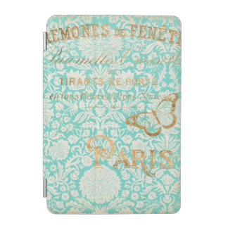 Vintage Paris Gold Design With Butterfly iPad Mini Cover