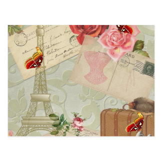 Vintage Paris Graphics Postcard
