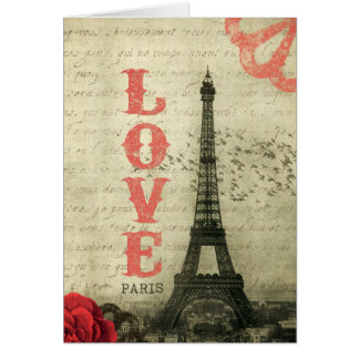 Vintage Paris Greeting Card