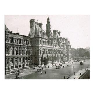 Vintage Paris, Hotel de Ville Postcard