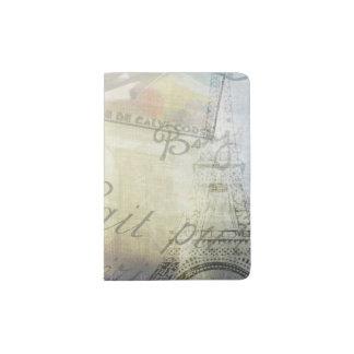 Vintage Paris Images Passport Holder