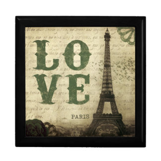 Vintage Paris Large Square Gift Box
