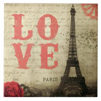 Vintage Paris Large Square Tile
