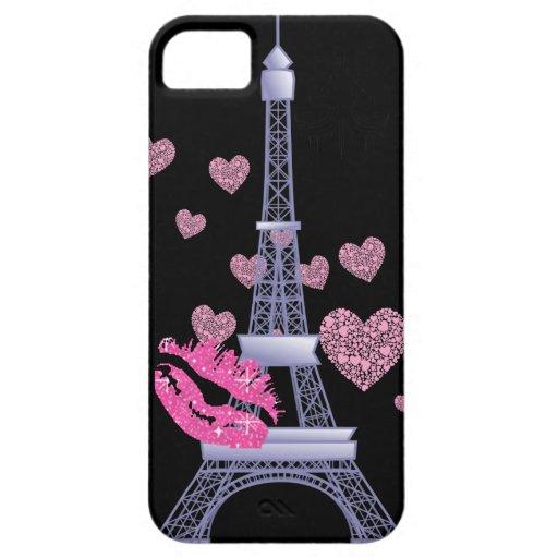 vintage Paris love Eiffel tower iphone 5 case