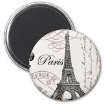 Vintage Paris...magnet 6 Cm Round Magnet