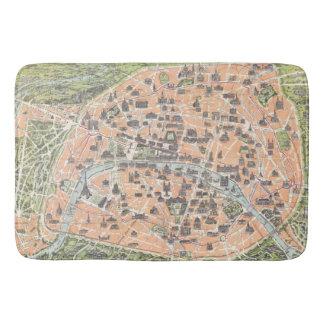 Vintage Paris Map Bath Mat