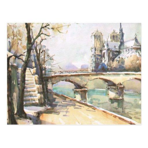 Vintage Paris, Notre Dame, La Seine Post Cards