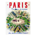 Vintage Paris Pan American Adv Postcards