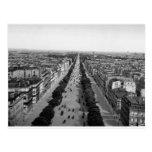 Vintage Paris panorama postcard c1905 Postcard