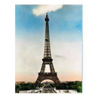 Vintage Paris, Paris Eiffel Tower Postcard