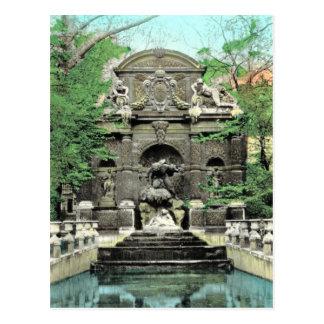 Vintage Paris, Paris Jardins de Luxembourg Postcard