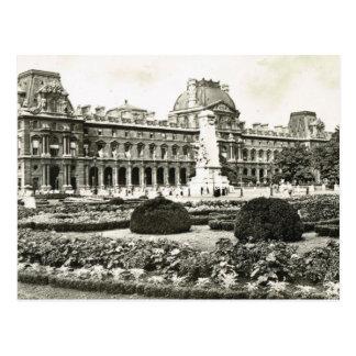 Vintage Paris, Paris, Louvre Postcard