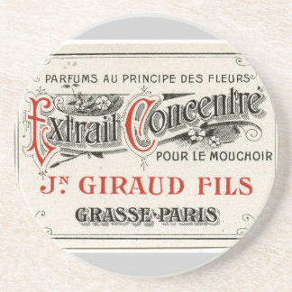 Vintage Paris Perfume Label Coaster