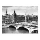 Vintage Paris Photo Palace of Justice. Postcard