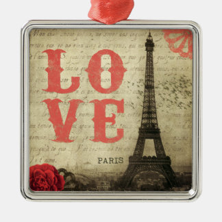 Vintage Paris | Pink Christmas Ornament