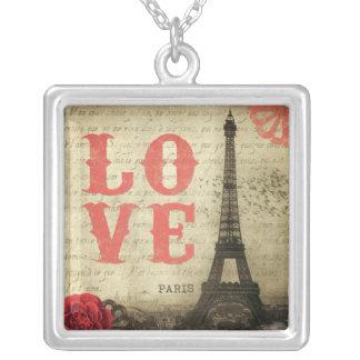 Vintage Paris | Pink Silver Plated Necklace