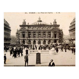 Vintage Paris Post Card, The Opera House Postcard