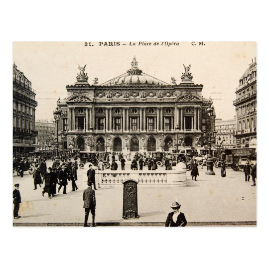Vintage Paris Post Card, The Opera House Postcard