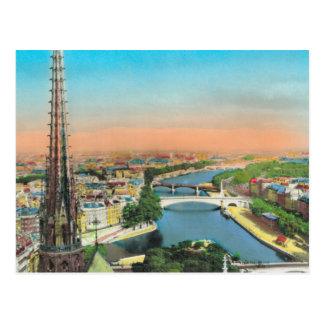 Vintage Paris, River Seine Postcard