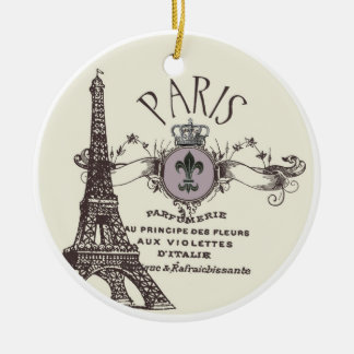 Vintage Paris Romance...ornament Christmas Ornament