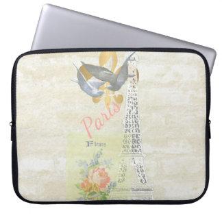 Vintage Paris Romantic Art Collage Laptop Sleeve
