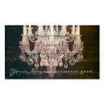 vintage paris rustic barn wood purple chandelier pack of standard business cards