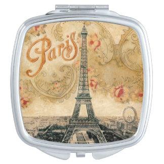 Vintage Paris Scenery Compact Mirror