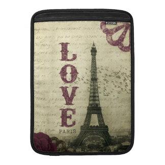 Vintage Paris Sleeves For MacBook Air