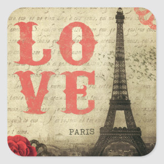 Vintage Paris Square Sticker