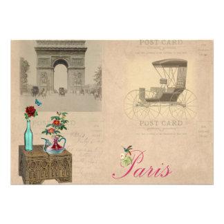 Vintage Paris Style Invites