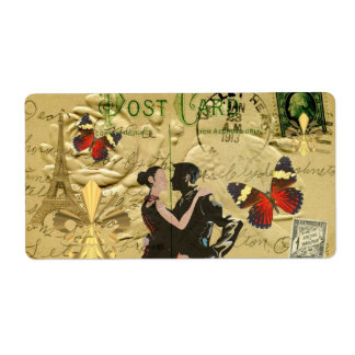 Vintage Paris Tango post card