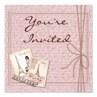 VINTAGE Paris Theme MULTI PURPOSE Invitations