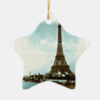 Vintage Paris Water Color Christmas Ornament