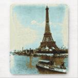 Vintage Paris Water Colour Mouse Pad