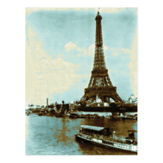 Vintage Paris Water Colour Postcard