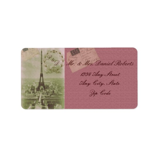 Vintage Paris Wedding Label