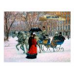 Vintage Parisian Style Christmas Postcards