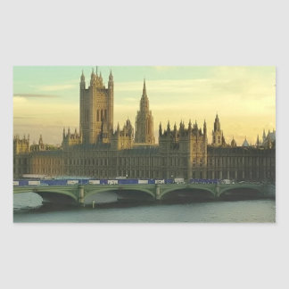 Vintage Parliament Rectangular Sticker