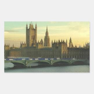 Vintage Parliament Rectangular Sticker