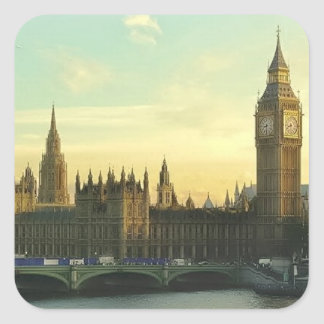 Vintage Parliament Square Sticker