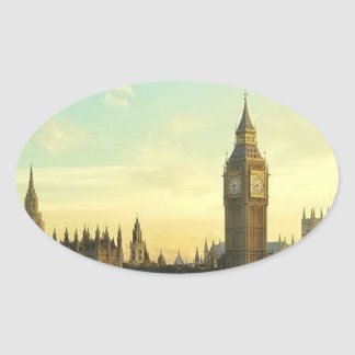 Vintage Parliament Oval Sticker
