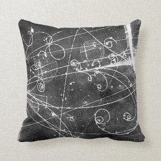 Vintage Partice Physics Tracks Cushion