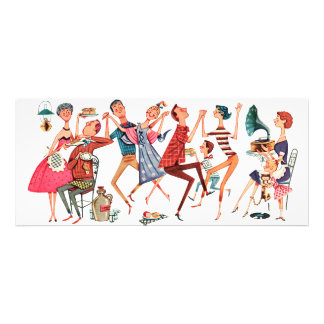Vintage Party Illustration Invitation